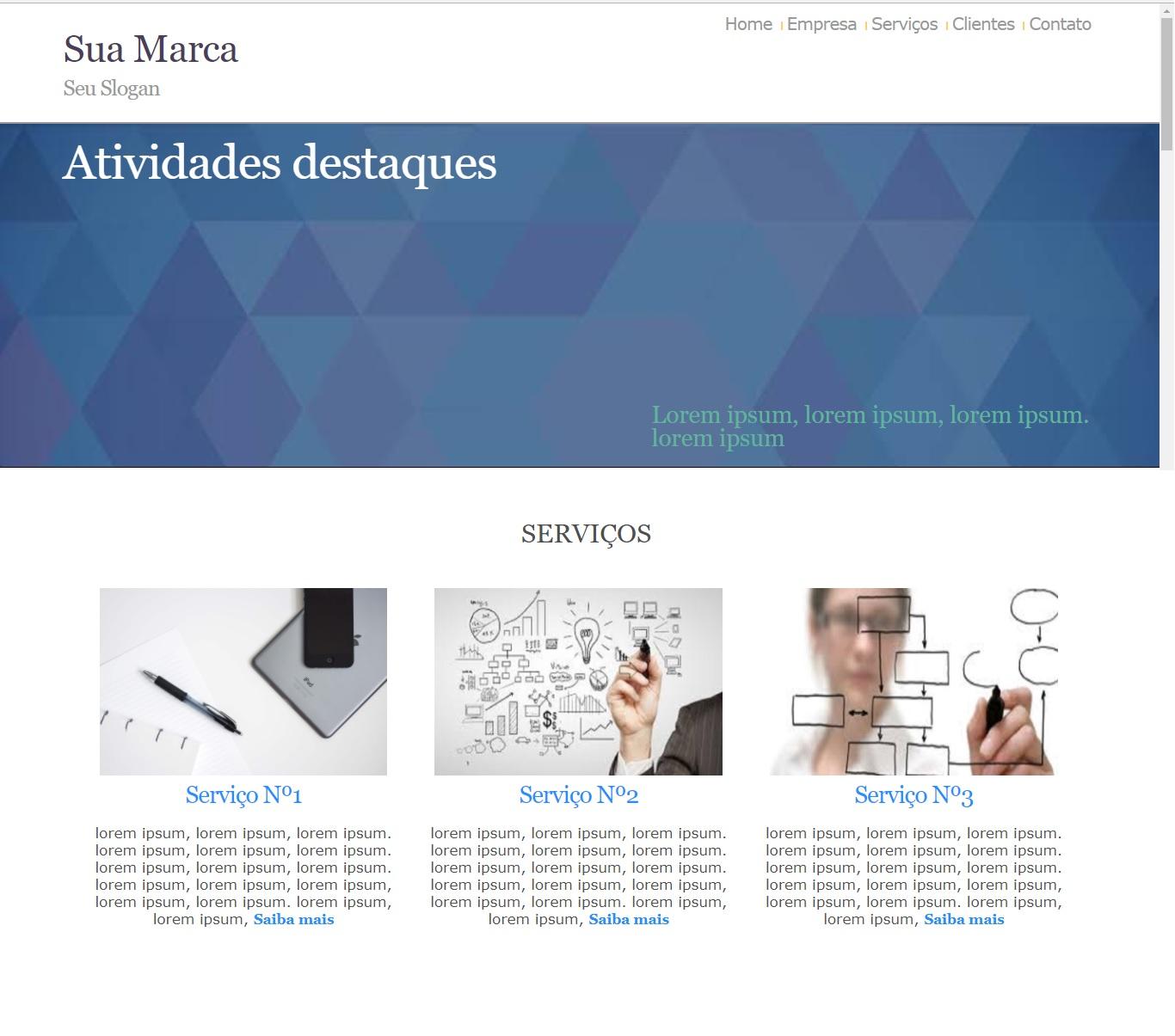Layout de sites prontos completo e personalizado
