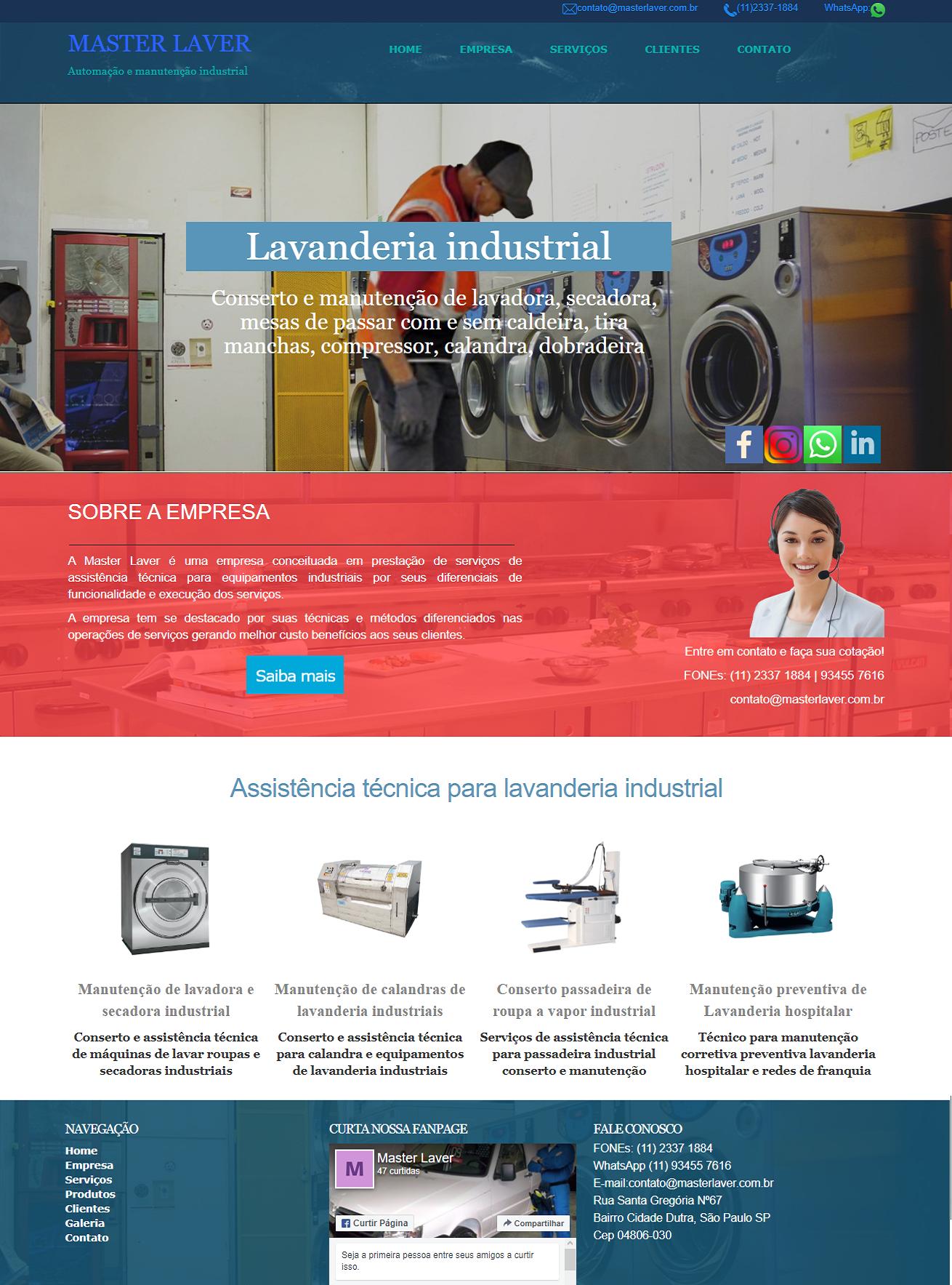 Modelo de sites prontos layout para serviço técnico de manutenção