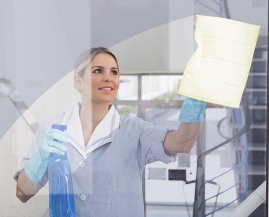 Modelo de template para facility serviços clean layout service